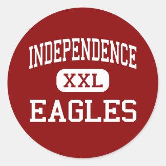 Independencia - Eagles - centro - Virginia Beach Etiqueta