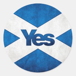 Independencia escocesa - de Saltire pegatina sí