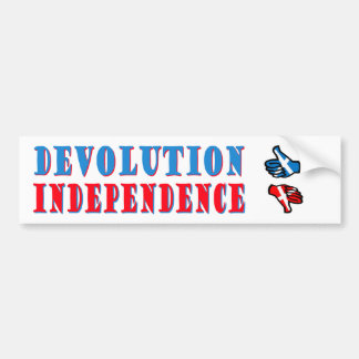 Independencia escocesa NINGUNA pegatina para el pa Etiqueta De Parachoque