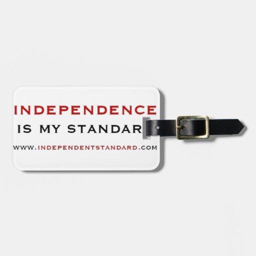 Independencia Etiquetas Maleta