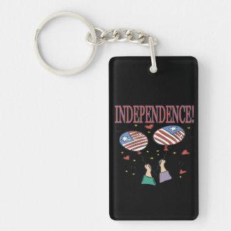 Independencia Llavero Rectangular Acrílico A Doble Cara