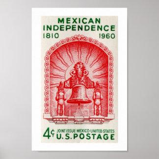Independencia mexicana 1810 a 1960 póster