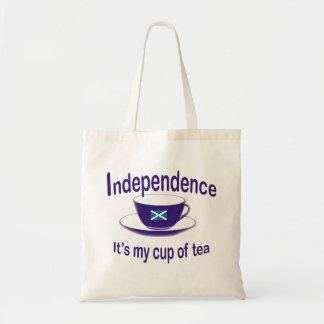 Independencia mi taza de la bolsa de asas del té