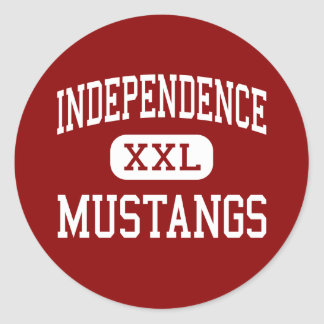 Independencia - mustangos - centro - independencia pegatina