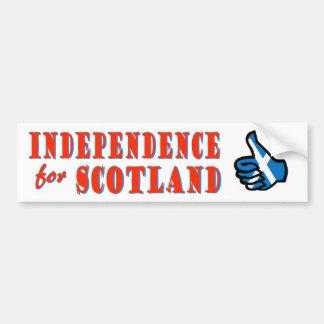 Independencia para la pegatina para el parachoques pegatina de parachoque