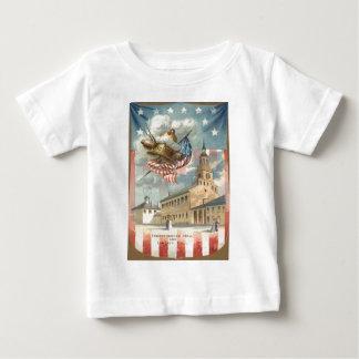 Independencia Pasillo Liberty Bell de la bandera Playera De Bebé