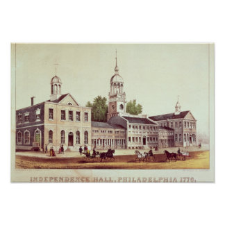 Independencia Pasillo, Philadelphia Póster
