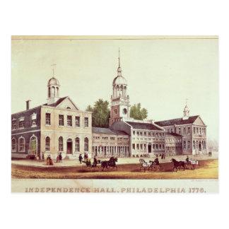 Independencia Pasillo, Philadelphia Tarjeta Postal