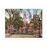 Independencia Pasillo Philadelphia, vintage 1900 Postal