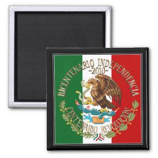Independencia/revolución de 2010 mexicanos imán cuadrado
