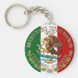 Independencia/revolución de 2010 mexicanos llavero redondo tipo pin