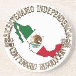 Independencia/revolución de 2010 mexicanos posavasos manualidades