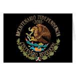 Independencia/revolución de 2010 mexicanos tarjeta de felicitación