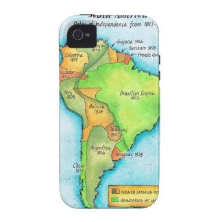 Independencia suramericana Case-Mate iPhone 4 fundas