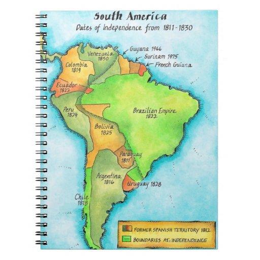 Independencia suramericana libros de apuntes con espiral