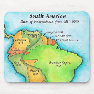 Independencia suramericana mouse pad