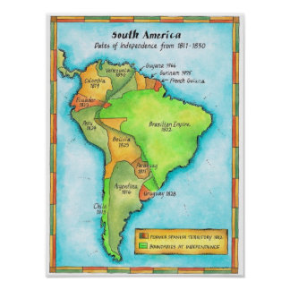 Independencia suramericana poster