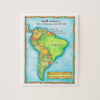 Independencia suramericana rompecabezas con fotos