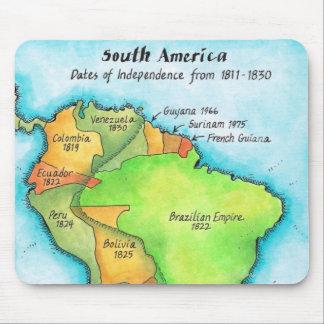 Independencia suramericana alfombrillas de raton