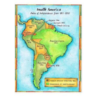 Independencia suramericana tarjetas postales