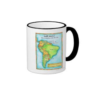 Independencia suramericana taza de dos colores
