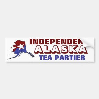 Independent Alaska Tea Partier Car Bumper Sticker
