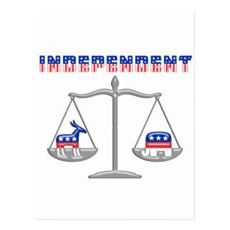 Independent Balance Scales Postcard