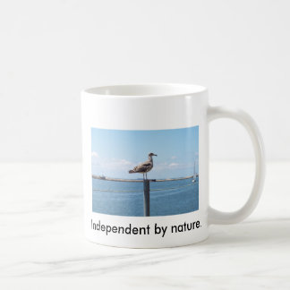 Independent by nature. classic white coffee mug