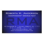 Independent Consultant Elegant Blue Monogram Double-Sided Standard Business Cards (Pack Of 100)