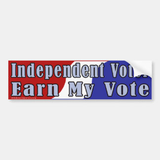 Independent Earn My Vote Bumper Sticker