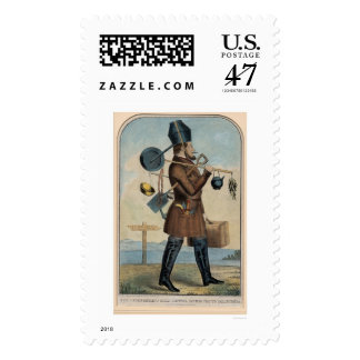 Independent Gold Hunter on His Way to California Postage Stamp