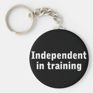 Independent in training keychain