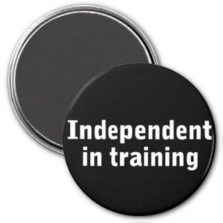 Independent in training fridge magnets