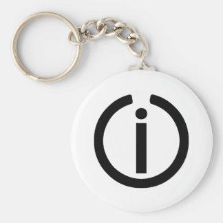 Independent Logo Basic Round Button Keychain