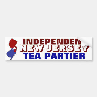 Independent New Jersey Tea Partier Car Bumper Sticker
