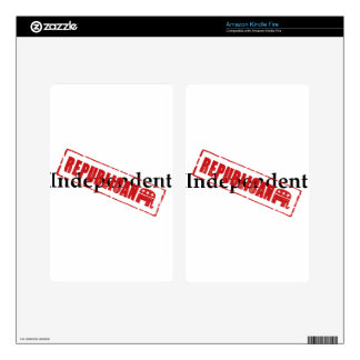 Independent: REPUBLICAN Kindle Fire Skin