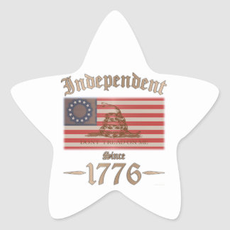 Independent Star Sticker