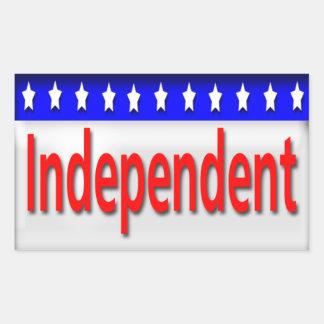 Independent Rectangular Sticker