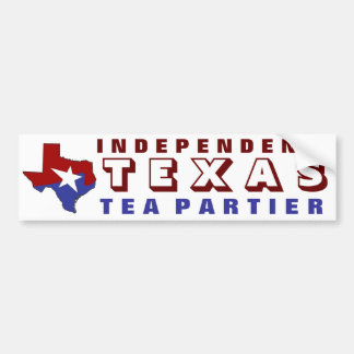 Independent Texas Tea Partier Bumper Sticker
