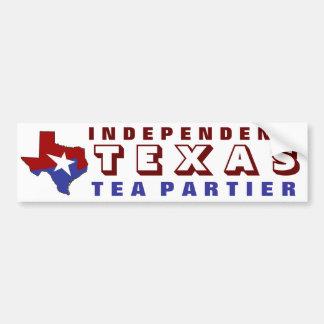 Independent Texas Tea Partier Car Bumper Sticker