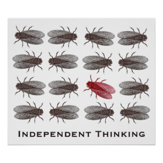 Independent Thinking Poster for a Creative Office