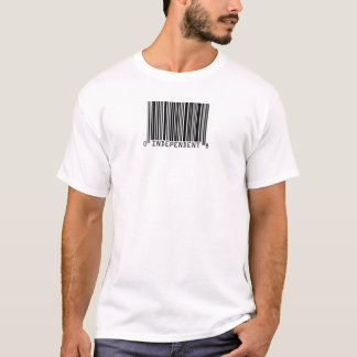 Independent Voter Bar Code T-Shirt... - Customized T-Shirt