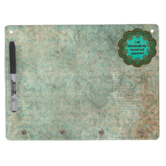 Independently Owned Dry Erase Board With Keychain Holder