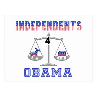 Independents 4 Obama Postcard