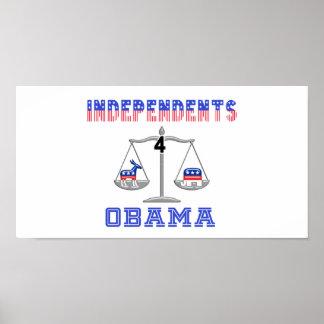 Independents 4 Obama Poster
