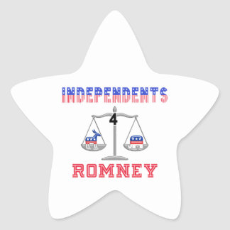 Independents $ Romney Star Sticker