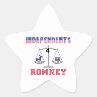 Independents $ Romney Star Sticker