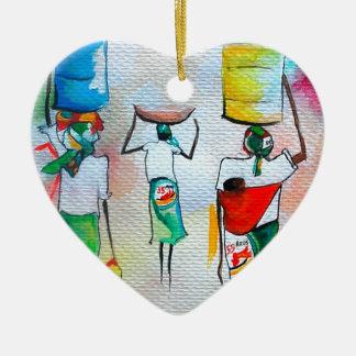 ¡Independia Mocambicana! Adorno Navideño De Cerámica En Forma De Corazón