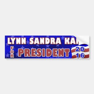 Independiente 2016 del presidente elección de Lynn Pegatina Para Auto