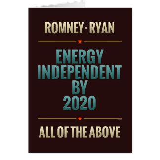 Independiente de la energía en 2020 tarjeta